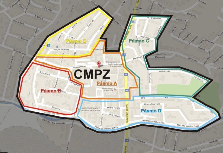 Vytýčenie centrálnej mestskej poarkovacej zóny (CMPZ)